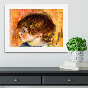 Head of a young girl by Renoir Framed Print - Canvas Art Rocks - 5