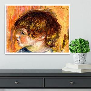 Head of a young girl by Renoir Framed Print - Canvas Art Rocks -6