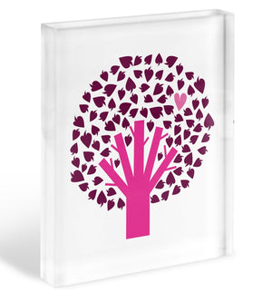 Heart Tree Acrylic Block - Canvas Art Rocks - 1
