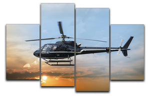 Helicopter for sightseeing 4 Split Panel Canvas  - Canvas Art Rocks - 1