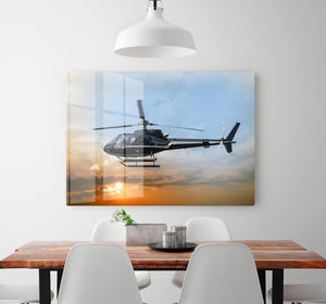 Helicopter for sightseeing HD Metal Print