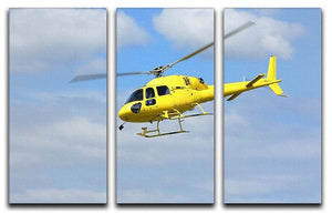 Helicopter rescue 3 Split Panel Canvas Print - Canvas Art Rocks - 1