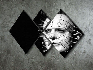 Hellraiser Pinhead 4 Square Multi Panel Canvas - Canvas Art Rocks - 2