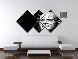 Hellraiser Pinhead 4 Square Multi Panel Canvas - Canvas Art Rocks - 3