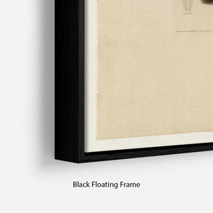 Henslows Bunting by Audubon Floating Frame Canvas - Canvas Art Rocks - 2