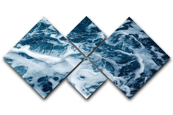 High Angle View Of Rippled Water 4 Square Multi Panel Canvas