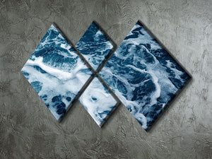 High Angle View Of Rippled Water 4 Square Multi Panel Canvas  - Canvas Art Rocks - 2