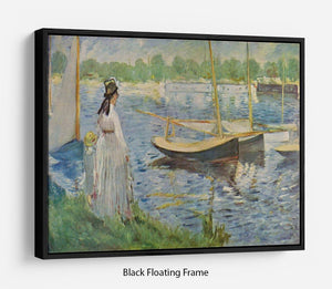His embankment at Argenteuil by Manet Floating Frame Canvas
