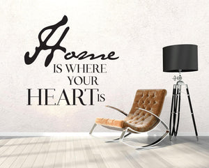 Home Is Where Your Heart Is Wall Sticker - Canvas Art Rocks - 1
