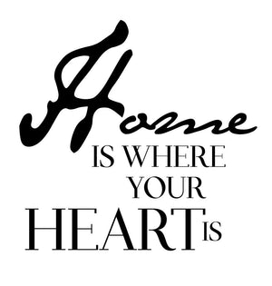 Home Is Where Your Heart Is Wall Sticker - Canvas Art Rocks - 2