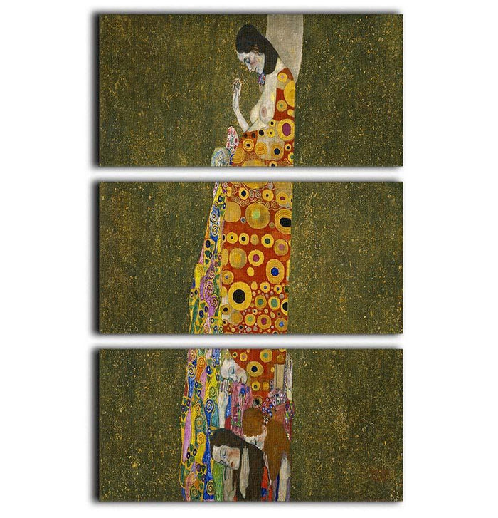 Hope II by Klimt 3 Split Panel Canvas Print