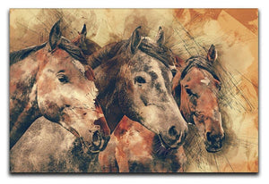 Horse Painting Canvas Print or Poster  - Canvas Art Rocks - 1
