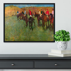 Horse race before the start by Degas Framed Print - Canvas Art Rocks - 2