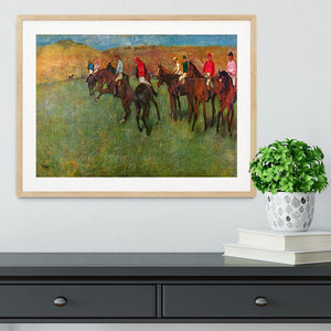 Horse race before the start by Degas Framed Print - Canvas Art Rocks - 3