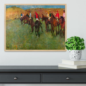 Horse race before the start by Degas Framed Print - Canvas Art Rocks - 4