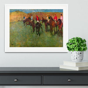 Horse race before the start by Degas Framed Print - Canvas Art Rocks - 5