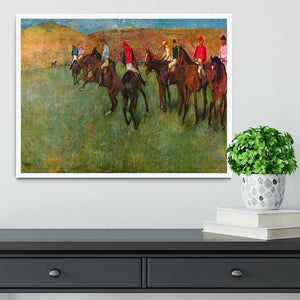Horse race before the start by Degas Framed Print - Canvas Art Rocks -6