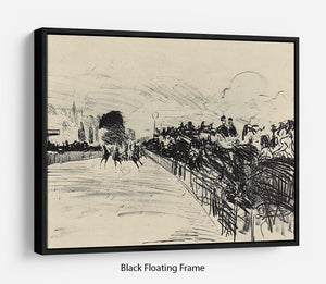 Horse racing by Manet Floating Frame Canvas