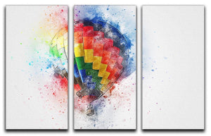 Hot Air Ballon Splash 3 Split Panel Canvas Print - Canvas Art Rocks - 1