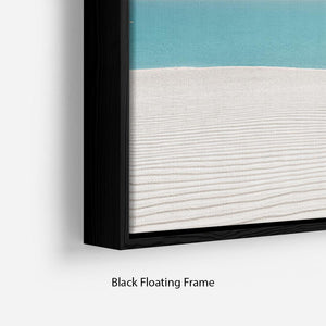 Hot Sun on White Sand Floating Frame Canvas - Canvas Art Rocks - 2