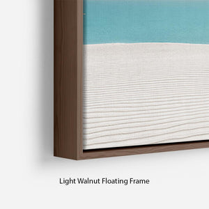 Hot Sun on White Sand Floating Frame Canvas - Canvas Art Rocks - 8