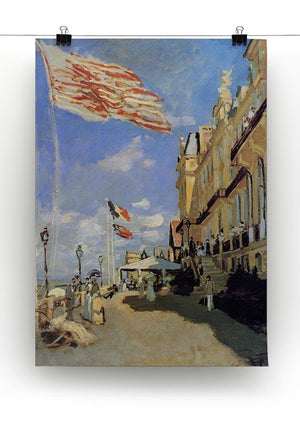 Hotel de Roches Noires a Trouville by Monet Canvas Print & Poster - Canvas Art Rocks - 2