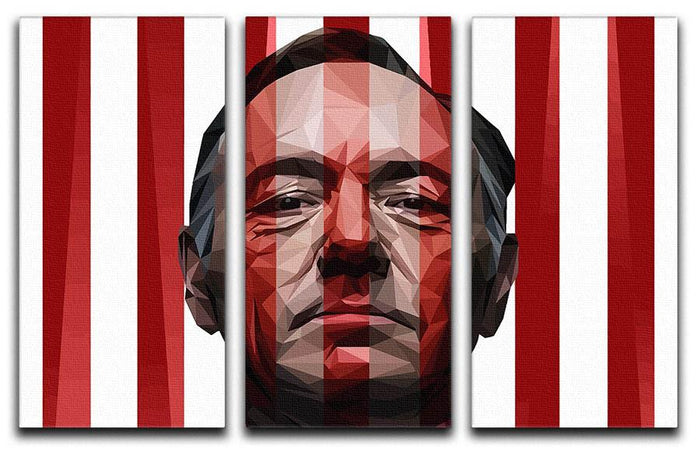 House Of Cards Frank Underwood 3 Split Canvas Print