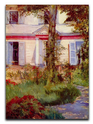 House in Rueil by Edouard Manet Canvas Print or Poster  - Canvas Art Rocks - 1
