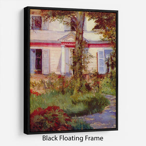 House in Rueil by Edouard Manet Floating Frame Canvas