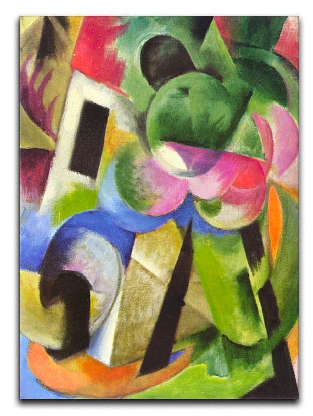 House with trees by Franz Marc Canvas Print or Poster