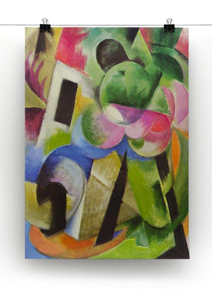 House with trees by Franz Marc Canvas Print or Poster - Canvas Art Rocks - 2