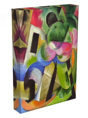 House with trees by Franz Marc Canvas Print or Poster - Canvas Art Rocks - 3