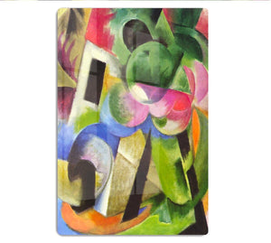House with trees by Franz Marc HD Metal Print