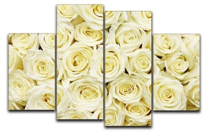 Huge bouquet of white roses 4 Split Panel Canvas  - Canvas Art Rocks - 1