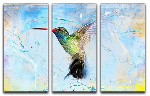 Humming Bird Painting 3 Split Panel Canvas Print - Canvas Art Rocks - 1