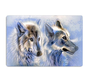 Ice Wolf Painting HD Metal Print