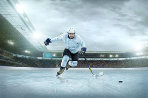 Ice hockey Wall Mural Wallpaper - Canvas Art Rocks - 1