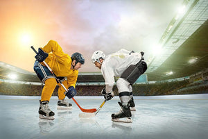 Ice hockey player Classic game Wall Mural Wallpaper - Canvas Art Rocks - 1