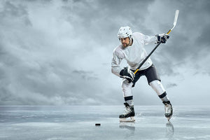 Ice hockey player Wall Mural Wallpaper - Canvas Art Rocks - 1
