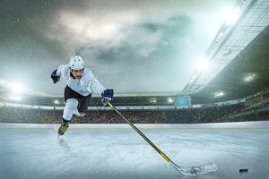 Ice hockey player on the ice Wall Mural Wallpaper - Canvas Art Rocks - 1