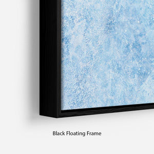 Ice of Baikal lake Floating Frame Canvas
