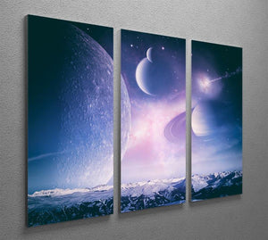 Ice world and planets 3 Split Panel Canvas Print - Canvas Art Rocks - 2