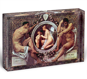 Idyll by Klimt Acrylic Block - Canvas Art Rocks - 1