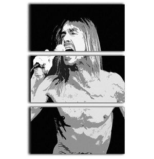 Iggy Pop 3 Split Panel Canvas Print - Canvas Art Rocks - 1