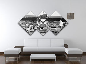 Ilie Nastase argues with the umpire 4 Square Multi Panel Canvas - Canvas Art Rocks - 3