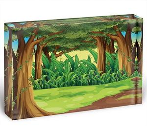 Illustration of the giant trees in the forest Acrylic Block - Canvas Art Rocks - 1
