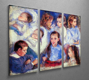 Images of childrens character heads by Renoir 3 Split Panel Canvas Print - Canvas Art Rocks - 2