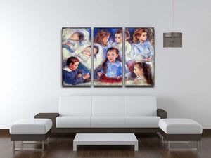 Images of childrens character heads by Renoir 3 Split Panel Canvas Print - Canvas Art Rocks - 3