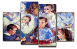 Images of childrens character heads by Renoir 4 Split Panel Canvas  - Canvas Art Rocks - 1