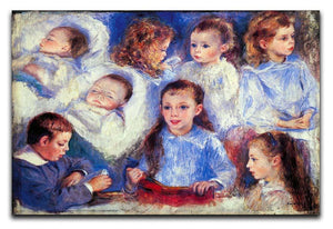 Images of childrens character heads by Renoir Canvas Print or Poster  - Canvas Art Rocks - 1